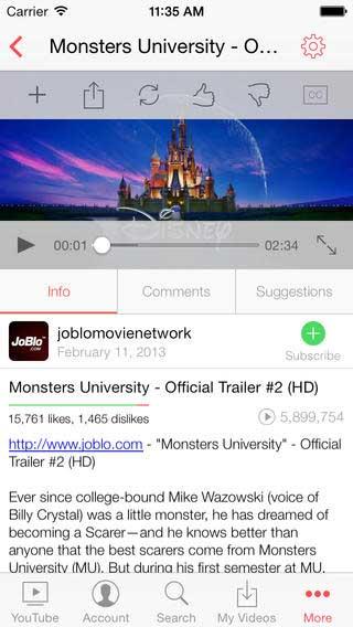 تطبيق MxTube for YouTube لتحميل الفيديو من يوتوب