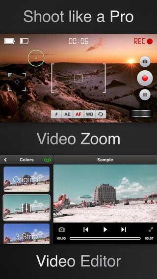 تطبيق Videon لتصوير وتحرير الفيديو