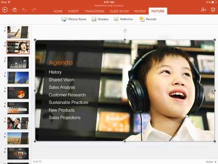 تطبيق PowerPoint للآيباد