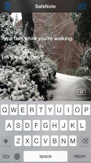 تطبيق Safe Note للكتابة وأنت تمشي