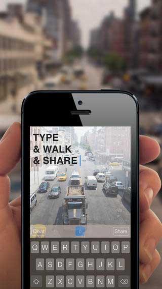 تطبيق Safe Walk للكتابة وأنت تمشي