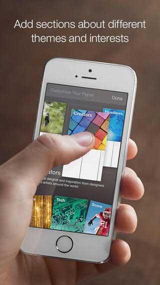 تحديث جديد لتطبيق Paper – stories from Facebook