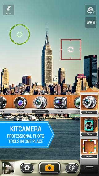 تطبيق KitCamera لتحرير الصور