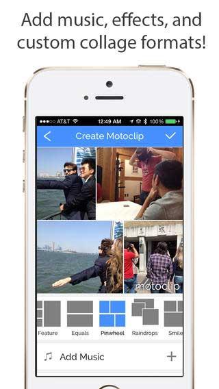 تطبيق Motoclip لصنع فيديو من صورك