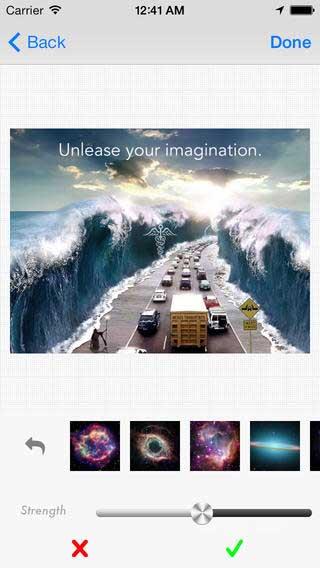تطبيق Poshlight لإضافة مؤثرات على الصور