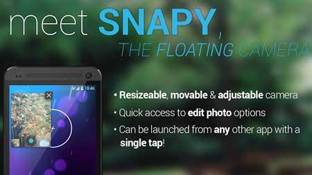 تطبيق Snapy, The Floating Camera للاندرويد