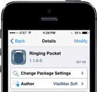 سيديا: أداة Ringing Pocket لرفع صوت الجهاز وهو داخل جيبك