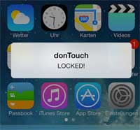 أداة donTouch لحماية تطبيقاتك من عبث المتطفلين