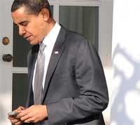 أوباما يقتني جهاز أندرويد