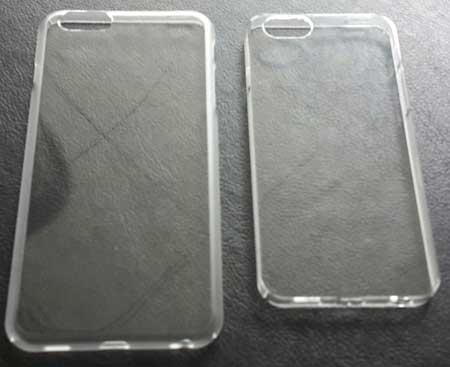 نموذج لحامي الأيفون 6 بمقاسي شاشة مختلفين