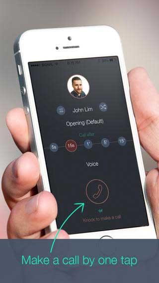 تطبيق KnockToCall لعمل اتصال وهمي