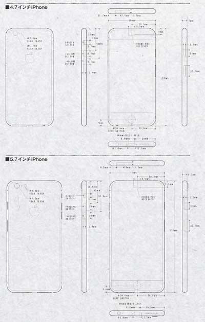 مخطط تصميم الايفون 6