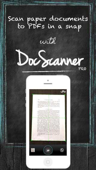 تطبيق DocScanner PRO حول الأيفون إلى ماسح ضوئي - مجانا لوقت محدود !