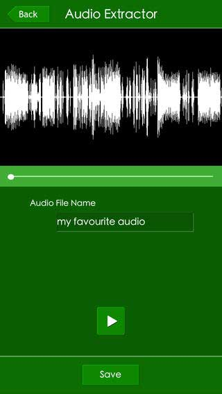 تطبيق The Audio Extractor