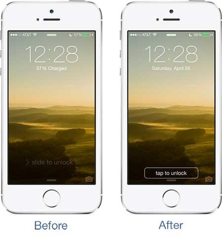 أداة TapToUnlock7 لتغيير قفل الايفون