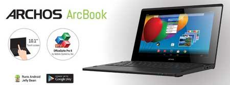 حاسوب Archos ArcBook بنظام الأندرويد