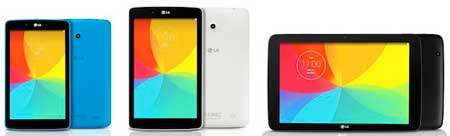 لوحيات LG G Pad 7.0, 8.0, 10.1