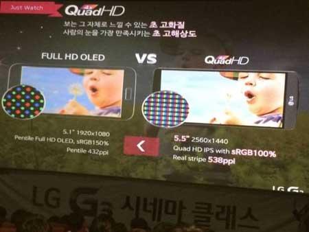 تسريب شاشة LG G3