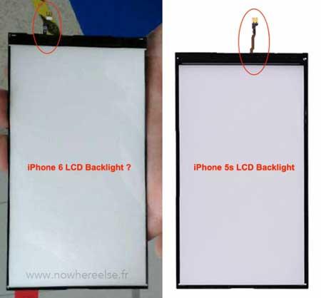 تسريب صورة لوحة إضاءة شاشة الأيفون 6