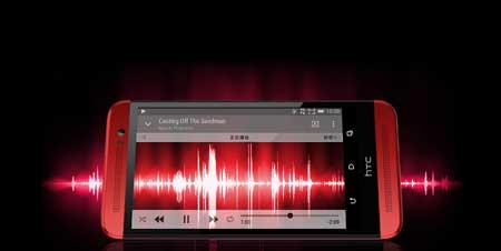 HTC One M8 الأحمر
