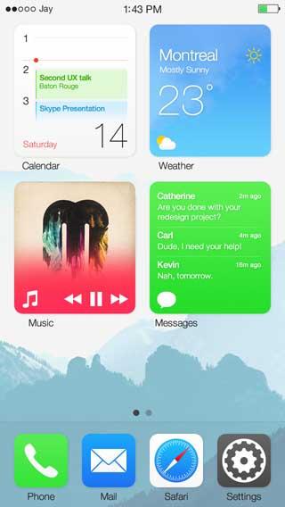 ميزة widgets على الأيفون في IOS 8