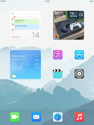 ميزة widgets على الآيباد في IOS 8