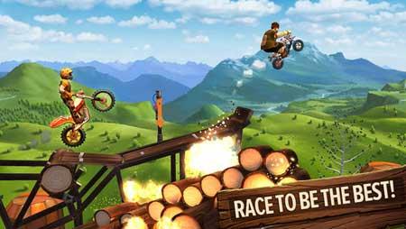 لعبة Trials Frontier للأندرويد