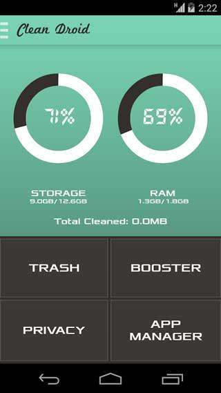 تطبيق Clean Droid: Deep Cleaner