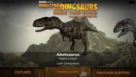 تطبيق Walking with Dinosaurs للأيفون والآيباد