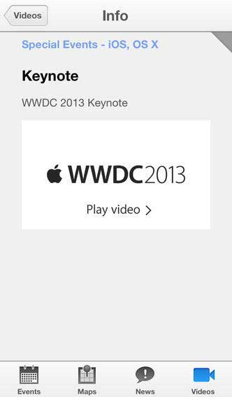 تطبيق مؤتمر آبل WWDC