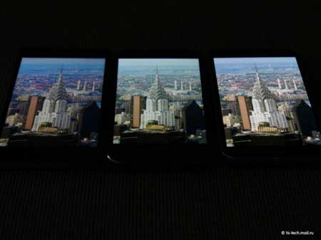مقارنة شاشة هواتف Galaxy S5 و HTC M8 و Xperia Z2