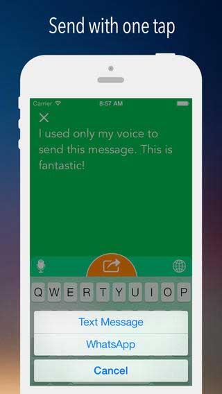 تطبيق iDictate Messages يكتب ما تقوله