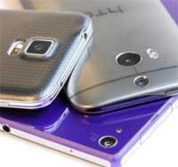 Photo of مقارنة شاشة هواتف Galaxy S5 و HTC M8 و Xperia Z2، شاهدوا بالصور