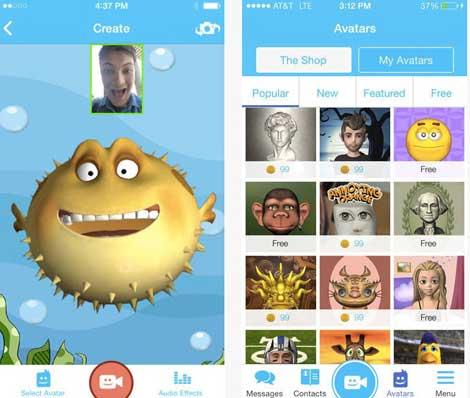 تطبيق Pocket Avatars للدردشة