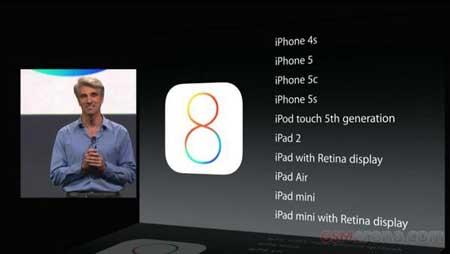 الأجهزة الداعمة لنظام iOS 8