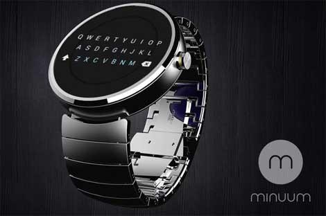 لوحة مفاتيح minium على ساعة موتورولا