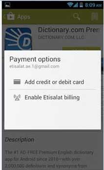 شراء تطبيقات جوجل بلاي بحساب اتصالات
