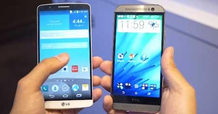 مقارنة ما بين هاتفي LG G3 و HTC ONE M8