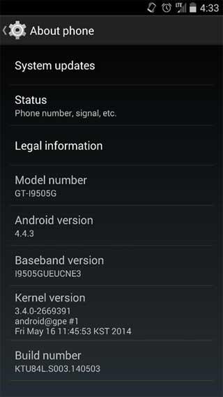 كيت كات 4.4.3 يصل إلى أجهزة جديدة