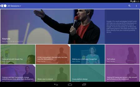 تطبيق Google I/O 2014