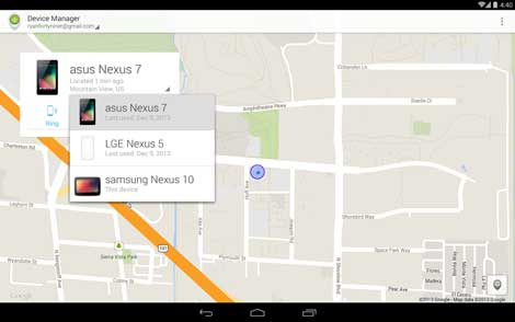 تطبيق Android Device Manager