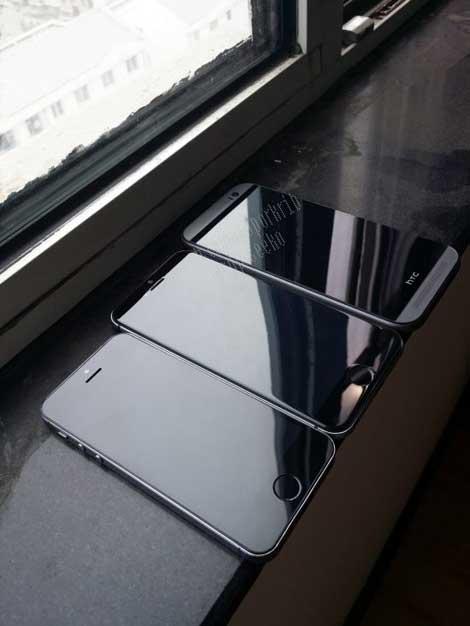 الأيفون 6 مقارنة بالأيفون 5S و HTC ONE M8
