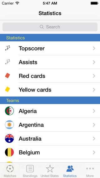 تطبيق World Soccer Finals لمتابعة أخبار كأس العالم