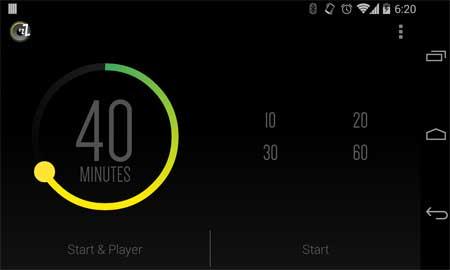 تطبيق Sleep Timer (Turn music off) مؤقت النوم