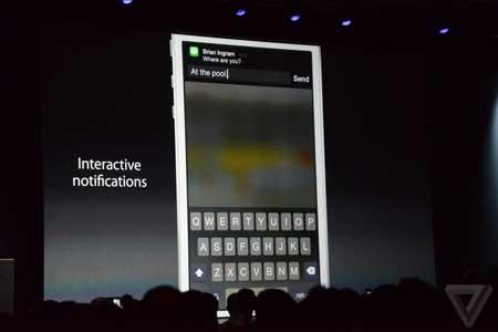 مركز الإشعارات في iOS 8