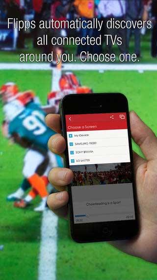 تطبيق Flipps HD لمشاهدة 100 قناة على الأيفون والآيباد