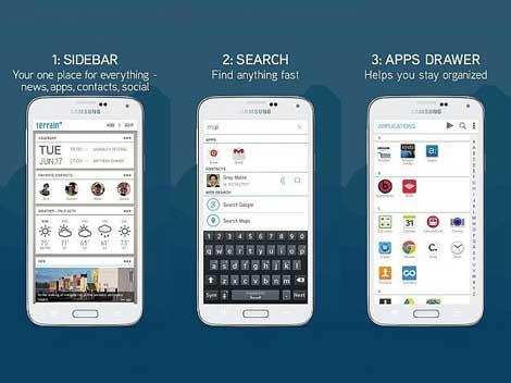 تطبيق لانتشر Terrain Home: Sidebar & Search