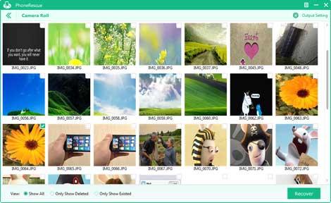 برنامج PhoneRescue: اختر الصور المراد استرجاعها