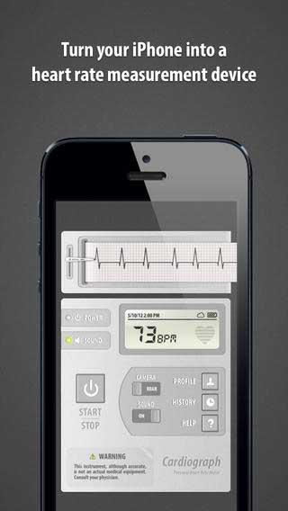 تطبيق Cardiograph لقياس نبضات قلبك للأيفون