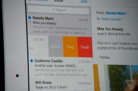 تحديث تطبيق البريد في IOS 8